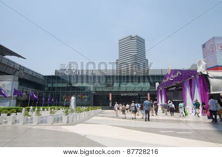 Bangkok April 4 : People Walk To The Siam Centre On April 4, 2015, In Bangkok, Thailand. Siam Center