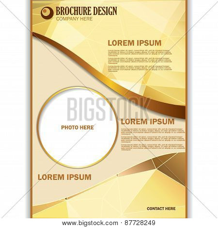 Vector presentation of business poster