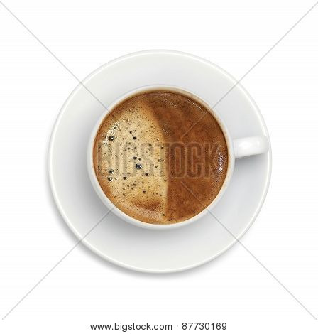 Latte Coffee Isolated On White Background