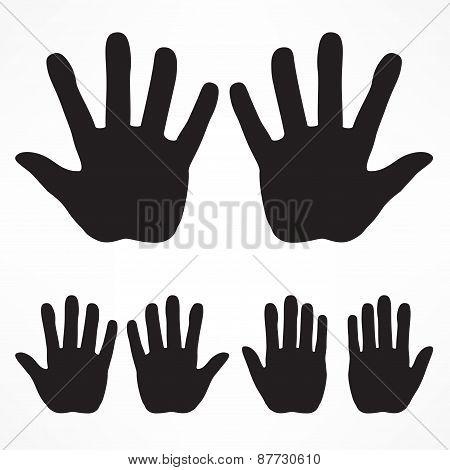 Hand Silhouette Set