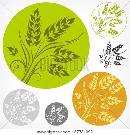 Wheat Pattern In Round