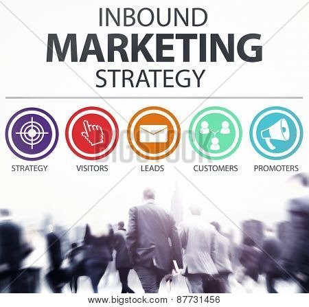 Inbound Marketing Strategy Commerce Solution Concept