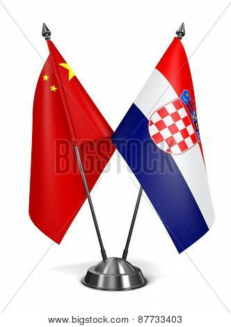 China and Croatia - Miniature Flags.