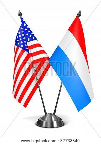 USA and Luxembourg - Miniature Flags.