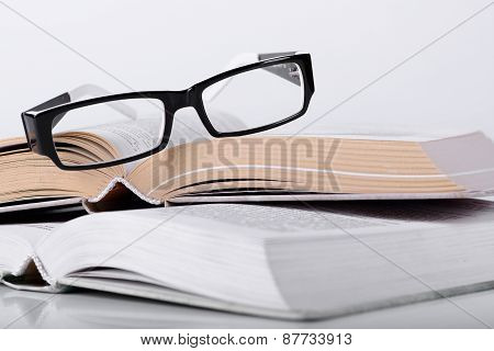 Book With A Glasses
