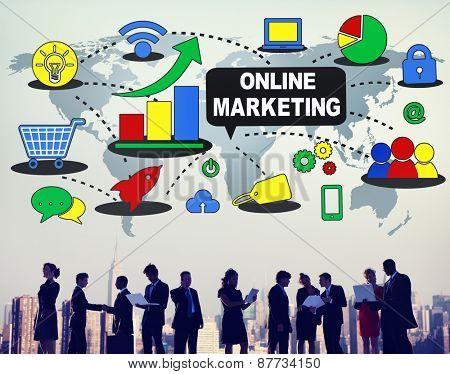 Global Online Marketing Business E-commerce Concept