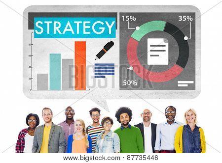 Strategy Planning Business Bar Graph Statistics Concept