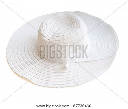 beach hat from the sun isolated on white