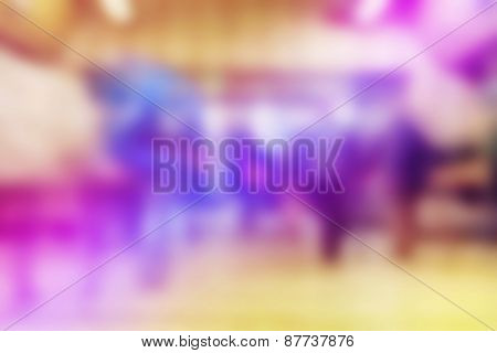 Blurred Abstract Background Of People In Urban Environment