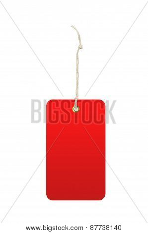Red Tag (label) Isolated On White Background