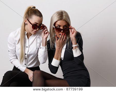 Two Surprized Girlfriends