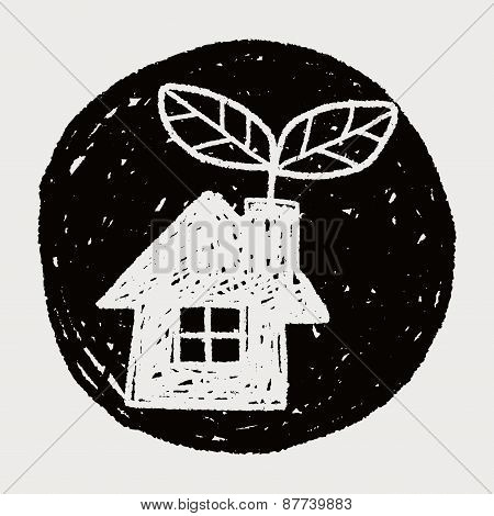 Environmental Protection Concept; Greenhouses; Green House; Doodle