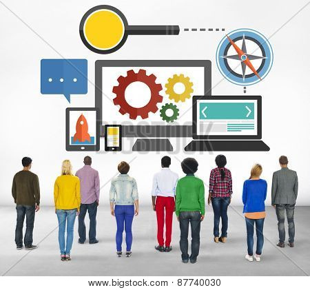 Search Engine Optimization Online Technology Web Concept