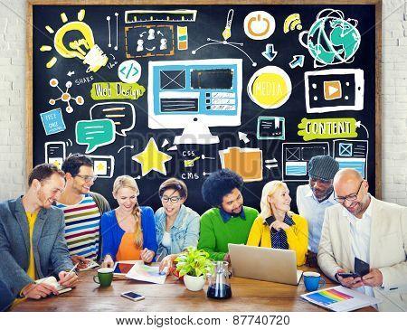 Diversity Casual People Web Design Brainstorming Idea Concept