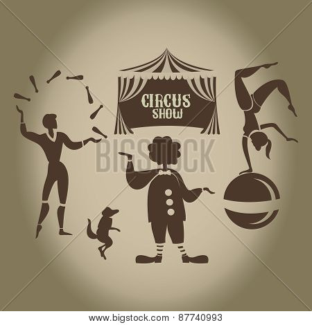 Background of the poster of circus in design execution