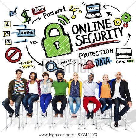 Online Security Protection Internet Safety People Friendship Concept