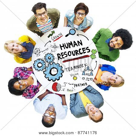 Human Resources Employment Job Teamwork People Diversity Concept