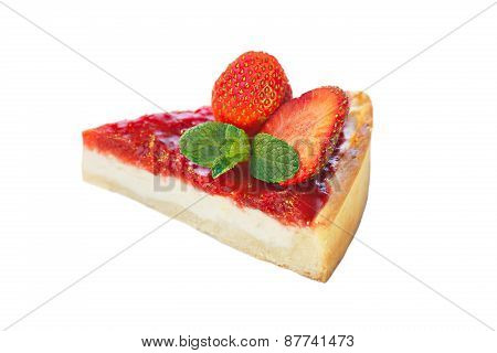 Strawberry Dessert Isolated On White