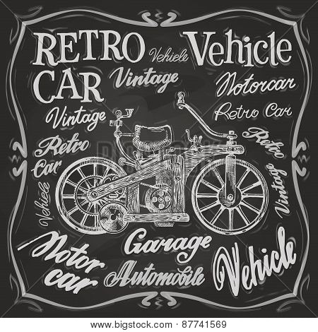 retro car vector logo design template. vehicle or transport icon.