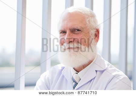 Bearded smiling doctor