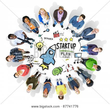 Start Up Business Launch Success People Group Concept