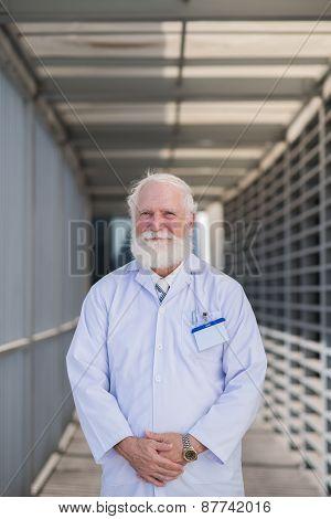 Senior medical worker