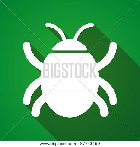 Long Shadow Bug Icon