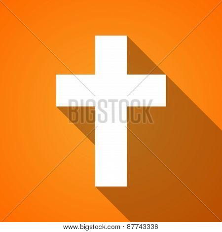 Long Shadow Christian Cross Icon