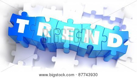 Trend - White Word on Blue Puzzles.