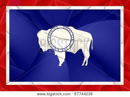 Flag Of Wyoming, Usa.