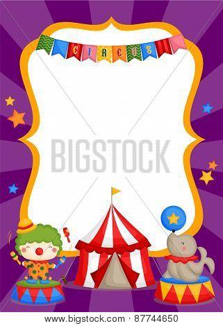 circus carnival card