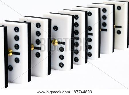row of dominoes