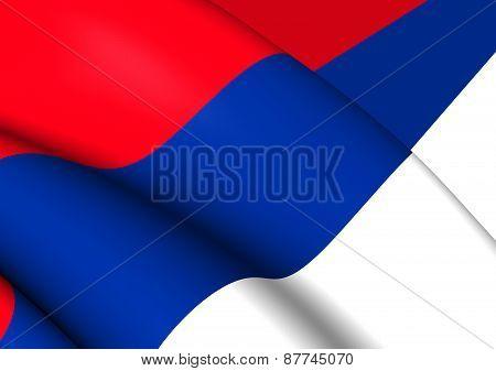 Civil Flag Of Serbia