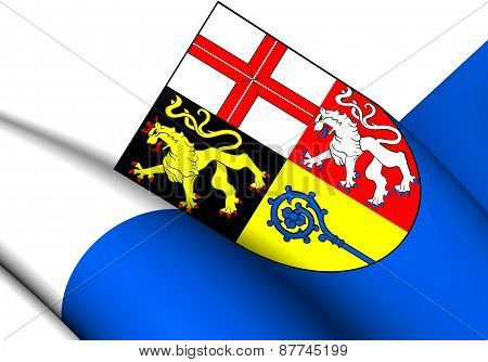 Flag Of Saarpfalz-kreis, Germany.