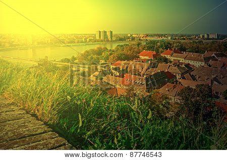 Cityscape In Novi Sad, Serbia, In Sunset Light