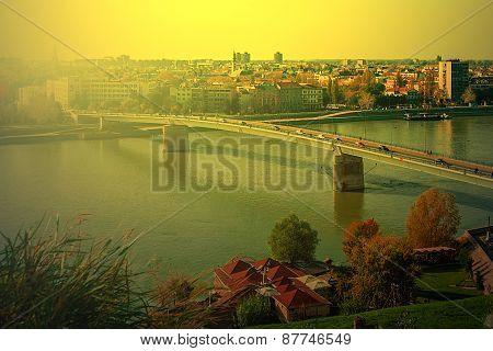 Cityscape In Novi Sad, Serbia, In Sunset Light 2