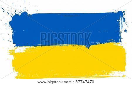 Ukraine Grunge Flag