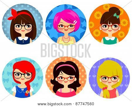 glasses girls
