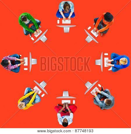 Diversity Teamwork Communication Digital Networking Concept