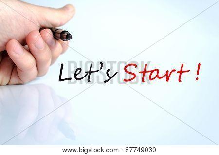Let's Start Concept