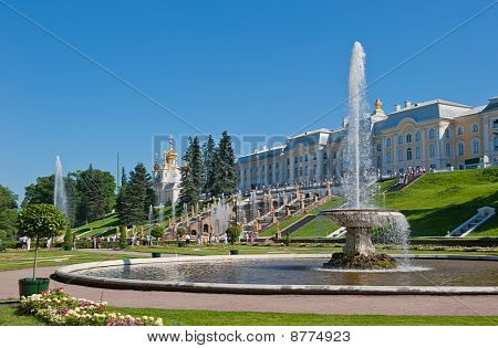 Fontes de Peterhof, São Petersburgo, Rússia