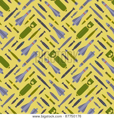Air bobms seamless pattern