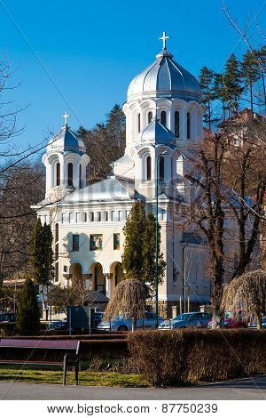Central park Church in Brasov, Romania