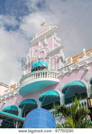 Colorful Stucco Building In The Tropics
