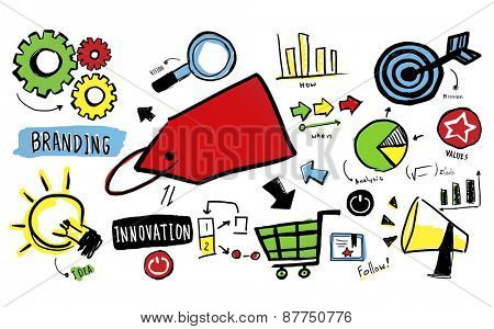 Branding Trademark Marketing Strategy Planning Concept