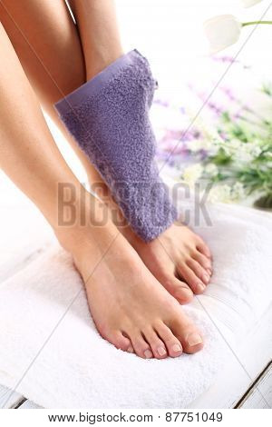 Feminine beauty treatments legs and feet