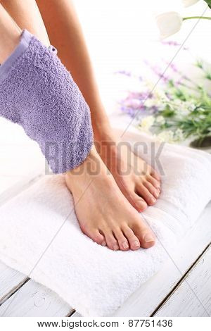 Peeling feet massage sponge