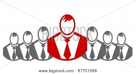 Concept Of Winner Executive, Champion Businessman