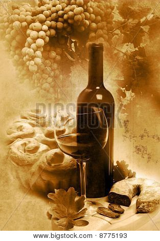 Vintage wine background