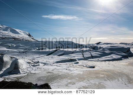 Svinafellsjokull Glacier lagoon, Iceland.